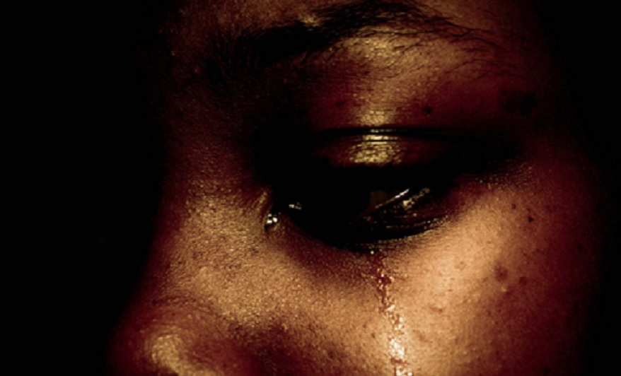 African Lady in tears